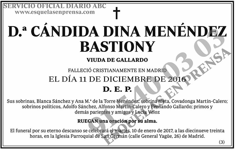 Cándida Dina Menéndez Bastiony